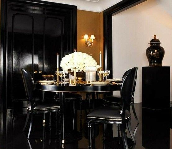 Art Deco Dining Rooms: The BURGUNDY ROOM By David's