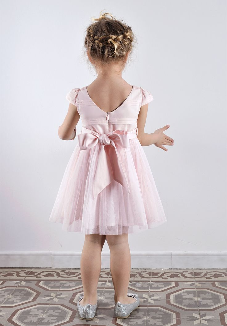 robe crmonie fille en tulle rose mariage et cortge - Robe Cortege Fille Mariage
