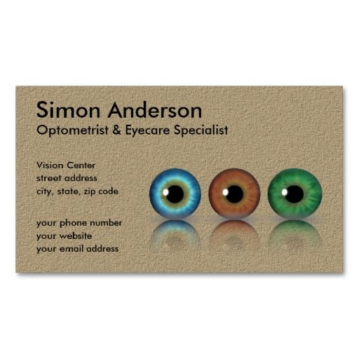 17 best images about eye doctor business card templates on for Optometrist business card