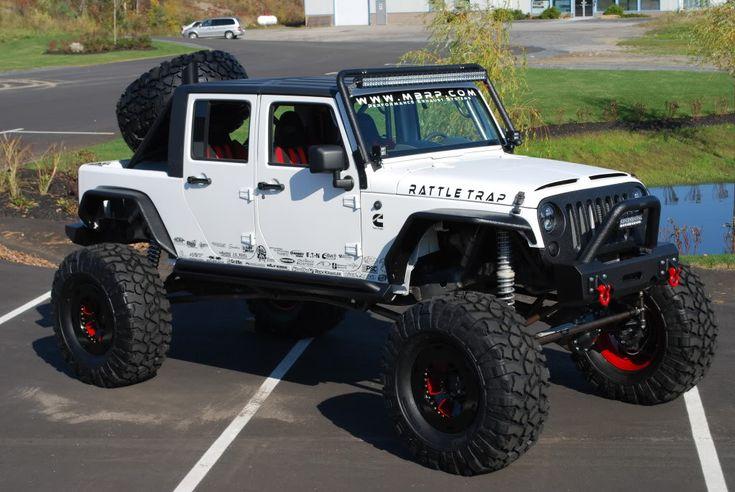 """MBRP Diesel Jeep 4 Door JK Truck Stretched JK 12 Valve Cummins Twin Turbo Dana Axles with Portals 44"""" Pitbulls http://www.pavementsucks.com/board/thread-MBRP-Diesel-Jeep-–-4-Door-JK-Truck"""