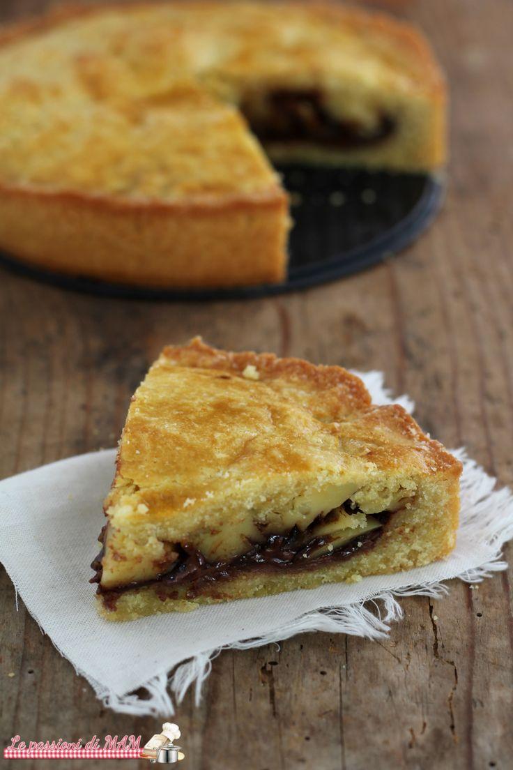 torta pasticciotto con crema alle nocciole