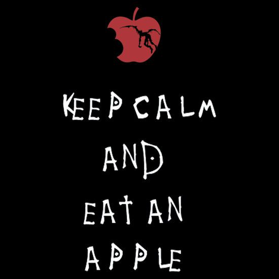 I could eat an apple...but I can't keep calm. Not anymore XD