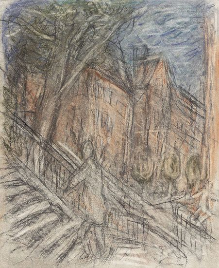 Leon Kossoff Arnold Circus, 2012 charcoal and pastel on paper 24 1/4 x 20 in. (61.5 x 50.5 cm)