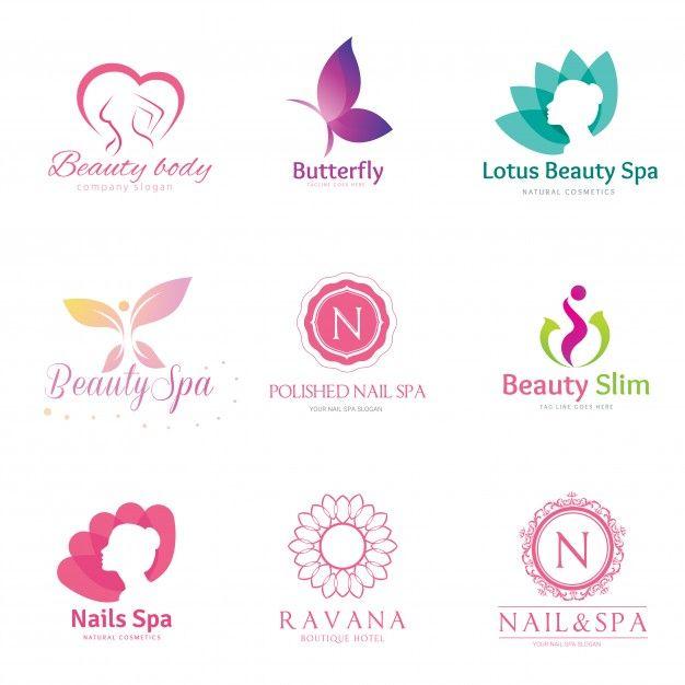 Collection Of Nice Logos For Spa: Beauty Logo Collection . Premium Vector