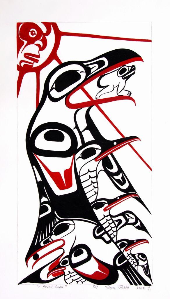 Canadian Indian Art - Raven Clan print by Tyrone Joseph