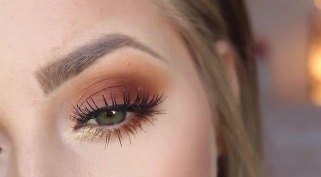 Burnt orange eyeshadow for Fall