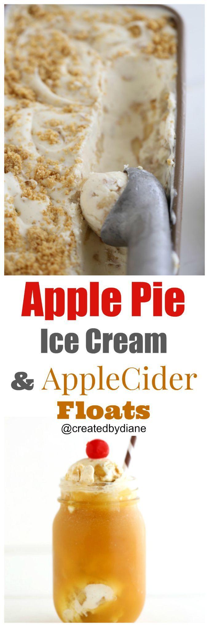 apple-pie-ice-cream-recipe-with-apple-cider-floats-createdbydiane