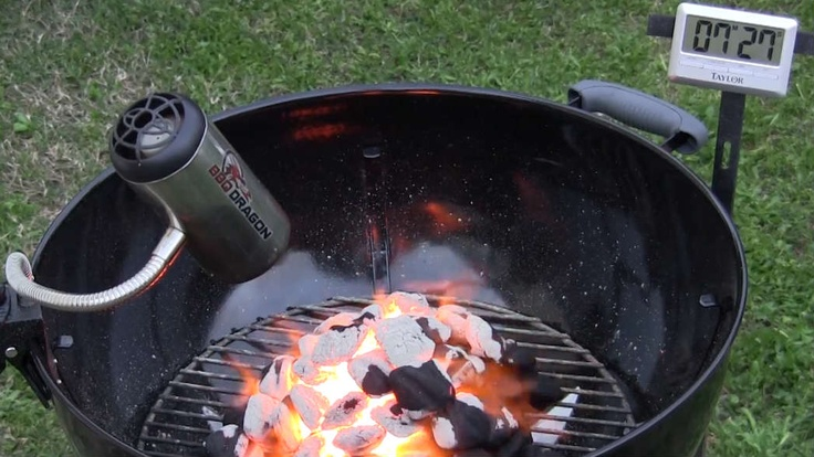 how to start a fire in a grill