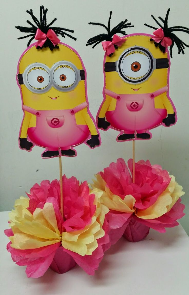 minion centerpieces - Google Search