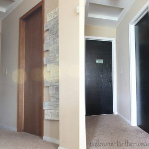 Black Interior Doors With White Trim Before And After