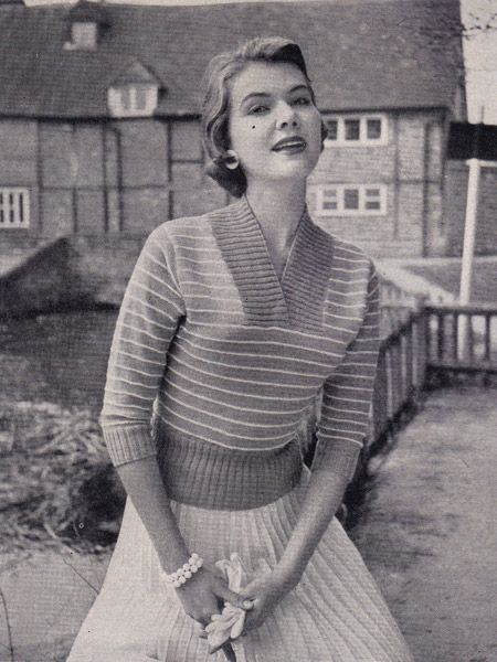 Striped Jumper. (Someday, I will learn to knit. And when I do, I'm gonna make this.)