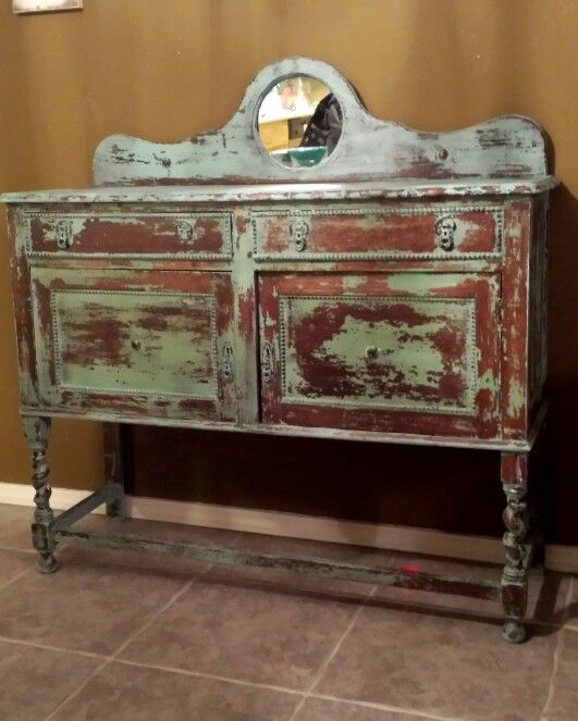 antique distressed furniture. Chest Heavily Distressed Painted With Light Turquoise Paint From The Real Milk Co. Antique Furniture