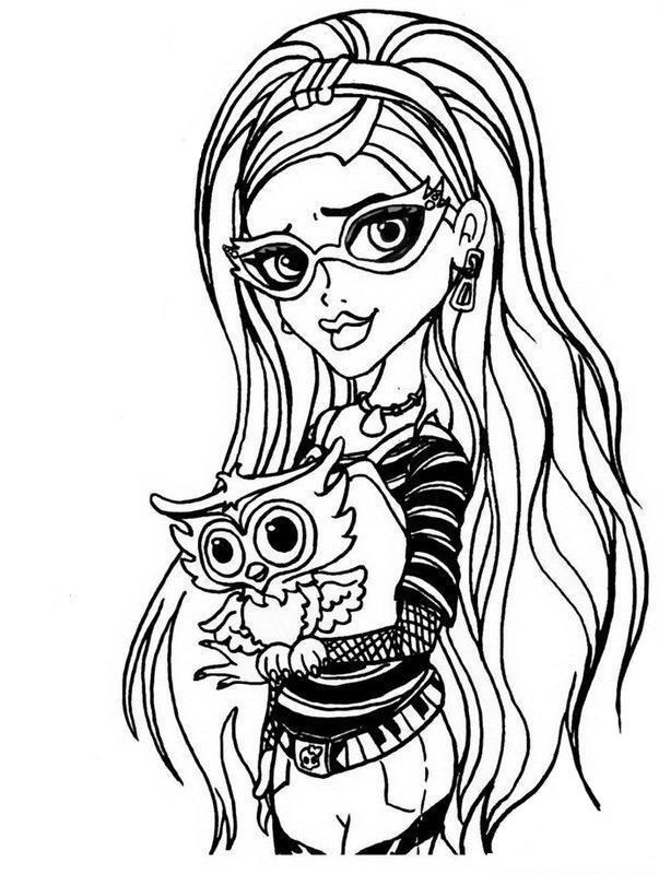 34 best Monster high images on Pinterest | Colouring pages ...