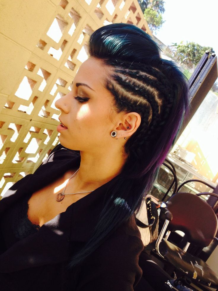 Mohawk Hairstyles For Women photo credit pinterestcom 1000 Ideas About Braided Mohawk Hairstyles On Pinterest Mohawk