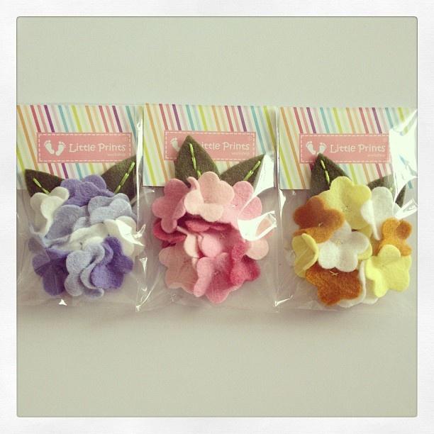 Angela Clips Packaging / Handmade Hair Accessories by Little Prints Workshop / Fabric: Felt