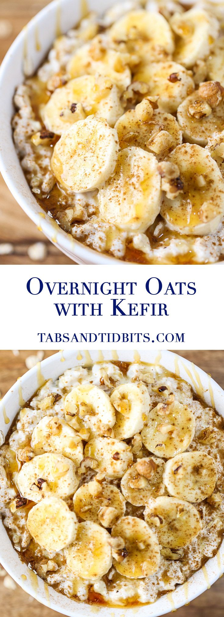 These overnight oats with kefir provide a filling breakfast with the added benefits of kefir and sweetened naturally with fruit!