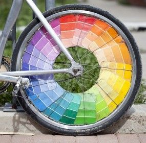 Sensorial Color extension: Paint Chip Crafts! LOL For you DIYers after you make your kids some color tablets check this out. This is great - be sure to click through where it says continue reading for more paint chip ideas!!