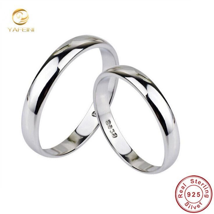 Genuine 925 Sterling Silver Polish Ring Fashion Lover Jewelry Wedding Band For Women Or Men