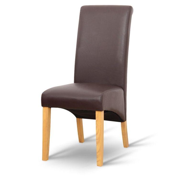 Jedálenská stolička JUDY, hnedá/prírodná