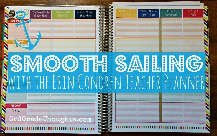 Some helpful tips to make the Erin Condren Teacher Planner work for you, including free & editable subject labels.