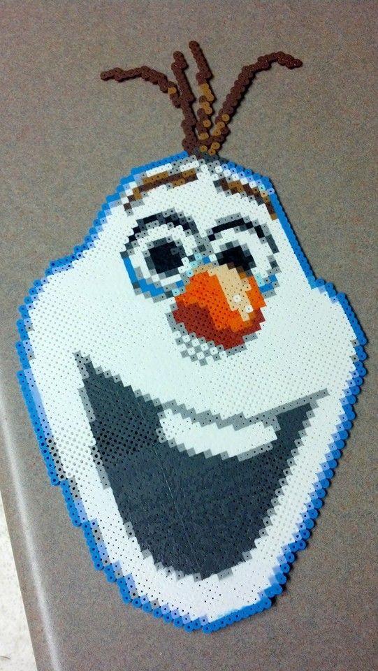 Olaf Frozen perler bead