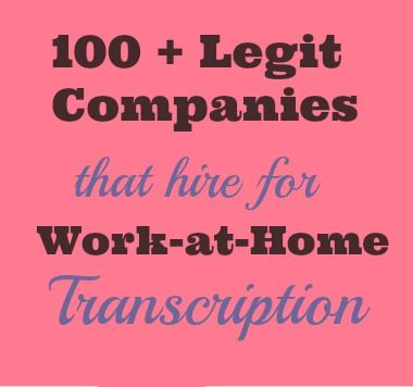 100+ transcription jobs from home