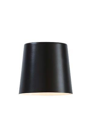 Mål: Bredde 15 cm. Dybde 19 cm. Høyde 14 cm. Vegglampe med 6W LED.