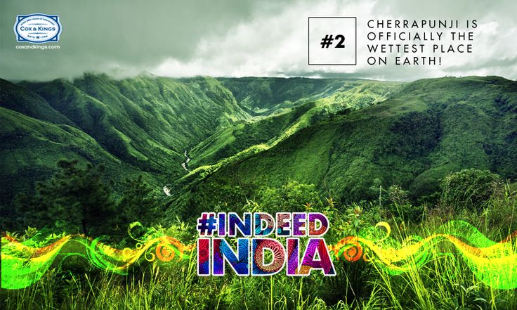 Receiving about 425 inches of rainfall a year, Cherrapunji has been credited by the Guinness Book of World Records for having the highest rate of rainfall. #DidYouKnow that in Cherrapunji, rainfall can be recorded in feet rather than in millimeters? Monsoon lovers, the rain doesn't get any better than this! #IndeedIndia #Travel