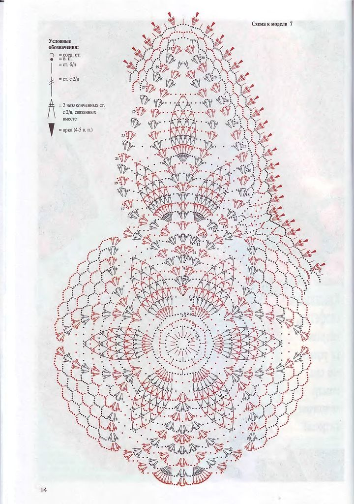 Всё обо всём: Валя ст.номера #crochet_chart #crochet_pattern #crochet #doily