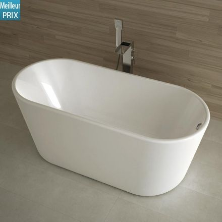599 euro liv comprise baignoire ilot ovale 162x72 cm petite dimension acryl - Petite baignoire ronde ...