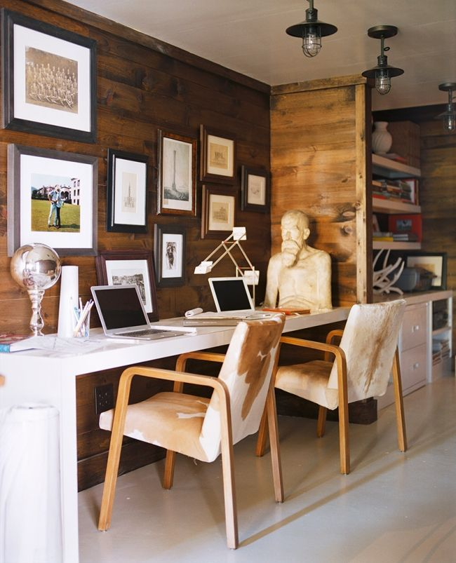 Rustic Home Office In A Lake House Designed By Meyer Davis