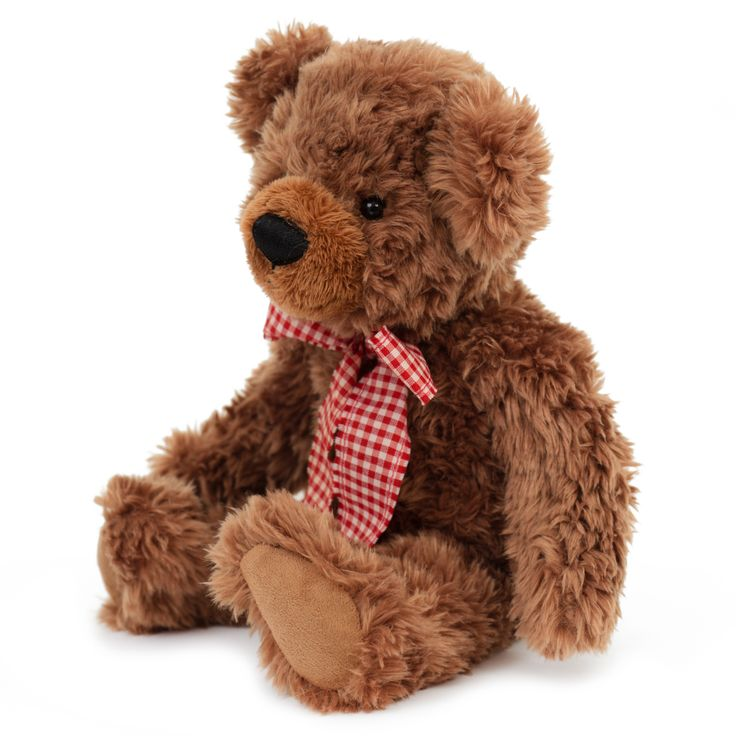 Honey Bear - Brown 88.500.035 Honey Bear is made from the finest superior soft plush and is soft and floppy making him the ideal companion for young children to cuddle and comfort. He stands at 35 centimeters tall and has the finest stitched nose and mouth that adds character and uniqueness to this authentic teddy bear. His soft paws are made from felt, making them a nice combination with the soft plush fur of the bear. Honey Bear comes with an elegant checkered bow around his neck.