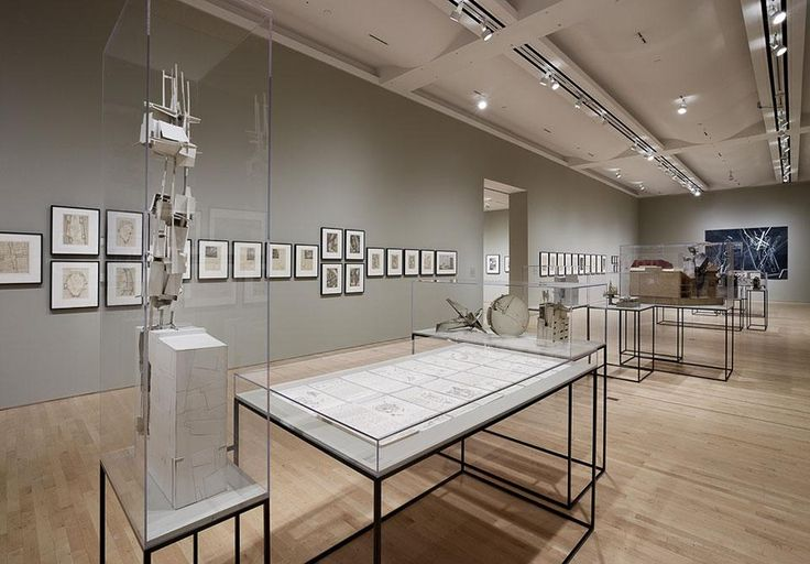 ''Lebbeus Woods, Architect'', installation view of the exhibition, San Francisco Museum of Modern Art (SFMOMA)