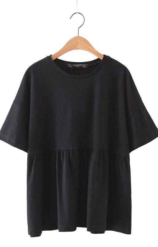 Jane, Basic Long T-Shirt, Short Sleeve.