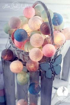 Cotton Ball Lights :: Świetlna girlanda CzaryMaryś 35 kul