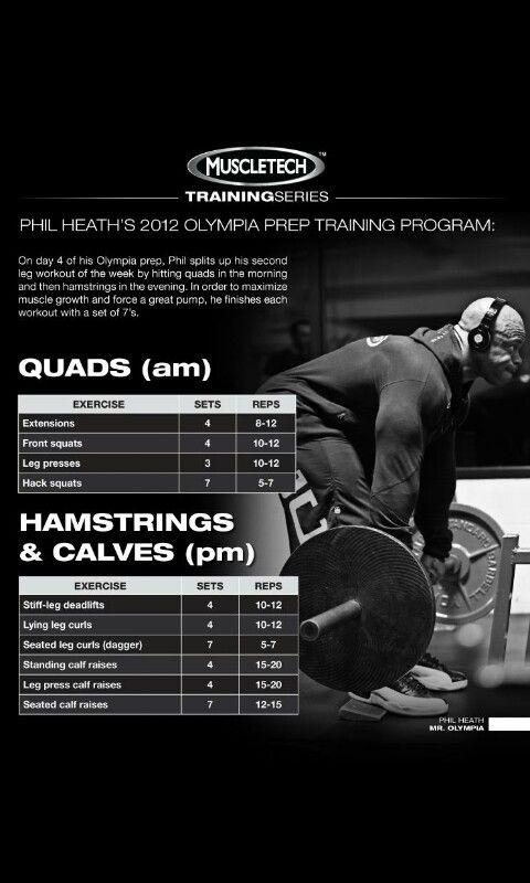 Phil Heath 2012 Olympia prep Traning (Legs) Day #4