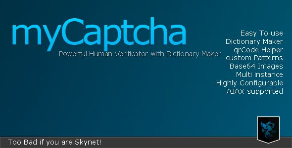 myCaptcha - Human Verificator w/ Dictionary Maker