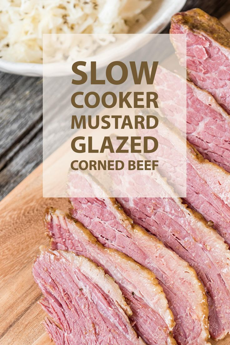 The perfect St. Patrick's Day meal - Slow Cooker Mustard Glazed Pork