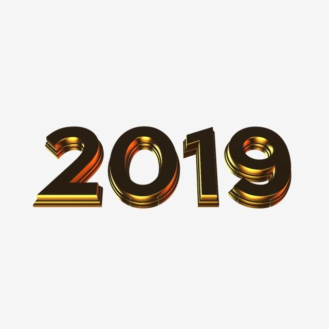 3d Gold 2019 3d Gold 2019 Png Transparent Clipart Image And Psd