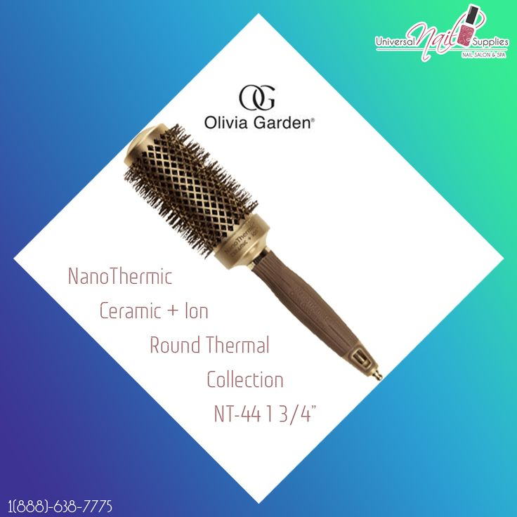 """NanoThermic Ceramic + Ion Round Thermal Collection NT-44 1 3/4""""  Details:  Latest Ceramic Technology  Ceramic coated barrel Heats up faster & retains heat longer Faster & better styling Superior & long-lasting hairstyles"""
