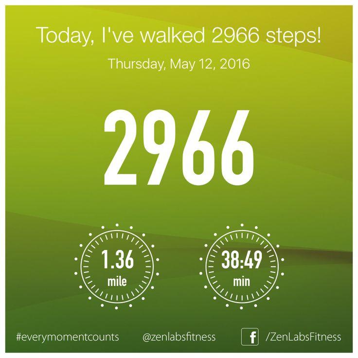Thursday, May 12, 2016 - 2966 steps