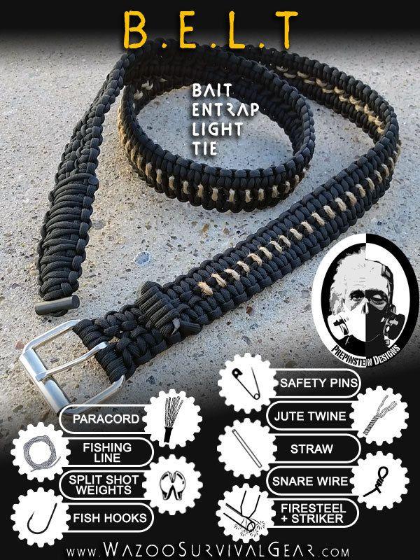 Paracord Survival Kit BELT - Wazoo Survival Gear