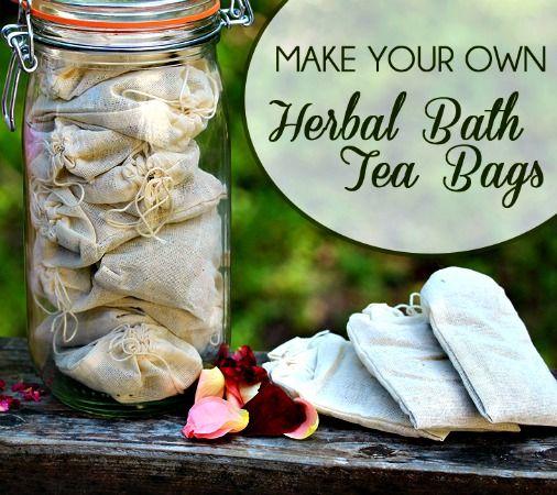 How to Make Herbal Bath Tea Bags