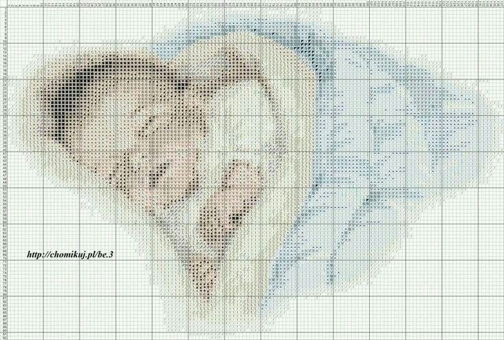 Cross stitch boy baby Punto de cruz