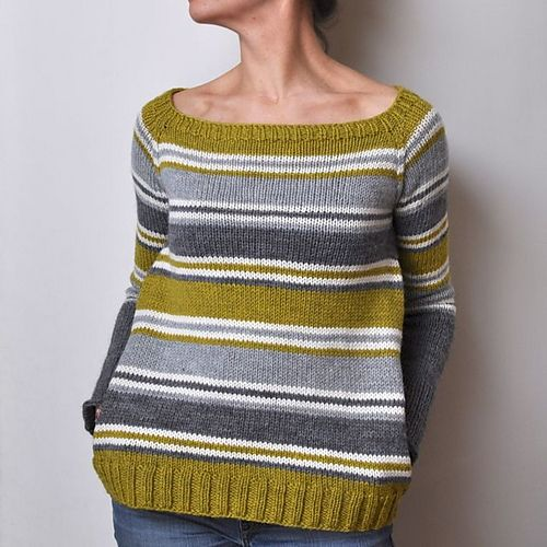 Because I love anything w/ stripes. Ravelry: Spring Lines pattern by La Maison Rililie