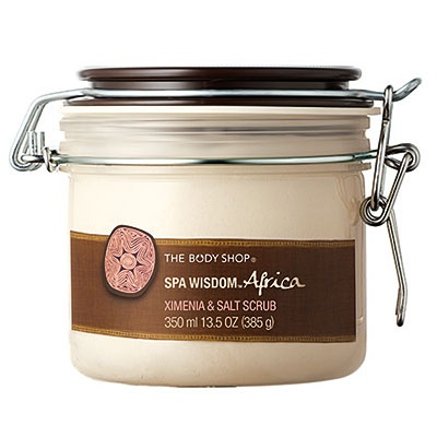Spa Ritual - You can't get your Mom a day at the spa for $35 but you can bring the spa to her w/ gifts like this scented salt scrub. The scrub acts as an exfoliant & should leave Mom feeling soothed, smoothed & softened. Africa Spa Salt Scrub, $28; TheBodyShop.com   (And The Body Shop does not test on animals!  Approved by the Leaping Bunny org.)