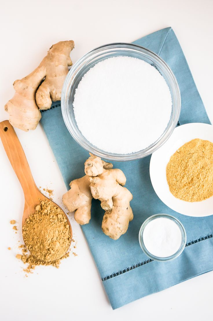 DIY: ginger detox bath + body scrub