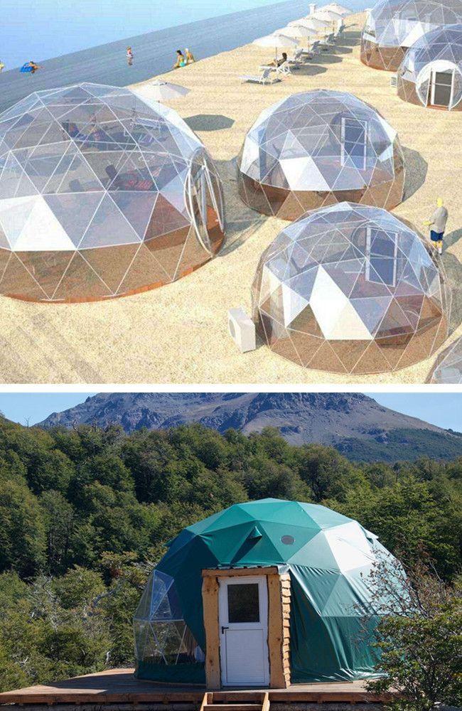 Toda La Estructura Es Como Una Casa De Cristal De Ensueno Es Muy Popular En El Mercado Geodesic Dome Geodesic Geodome