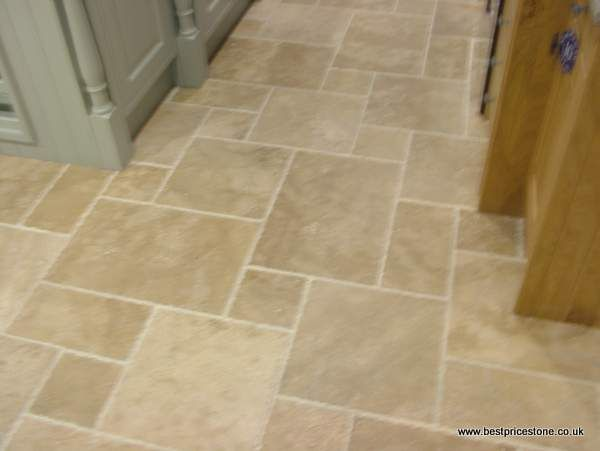 Palermo Antique Travertine in a 4 size pattern.