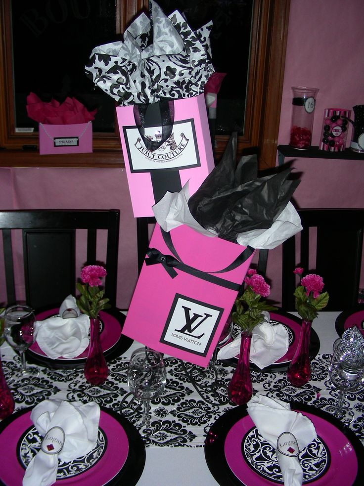 Sweet 16 Shopping Theme Centerpieces For Your Sweet 16 At